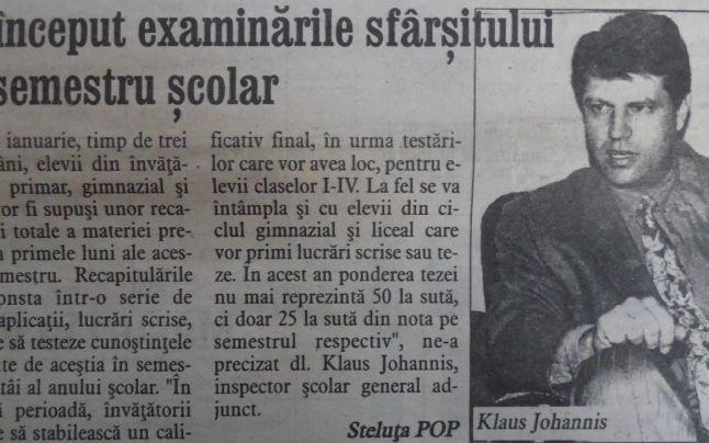 FOTO Cum era profesorul Klaus Iohannis. Ce spun foştii colaboratori şi elevi despre actualul preşedinte al PNL | adevarul.ro