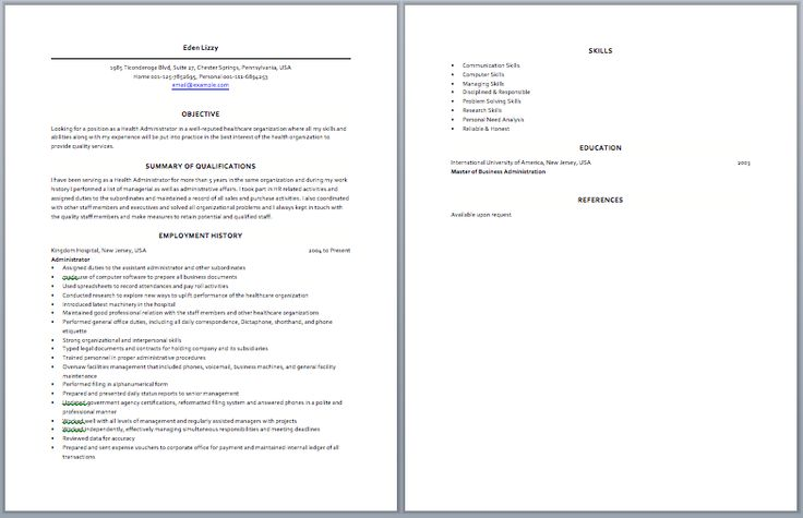 medical operation manager resume
