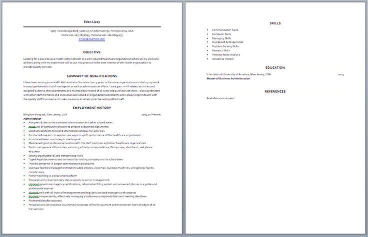 Medical Operation Manager Resume