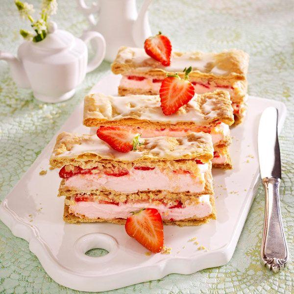 Blatterteig Erdbeeerkuchen