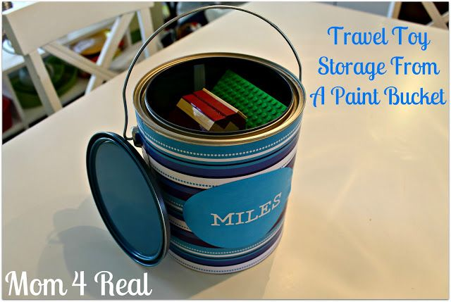 Travel Toy Storage From A Paint Bucket - Mom 4 Real