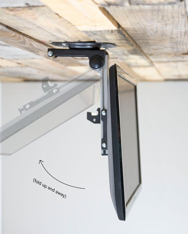Vivo Folding Flip Down Pitched Roof Tilting Ceiling Mount For 20 27 Flat Panel Screens Wall Mounted Tv Roof Ceiling Tv Wall