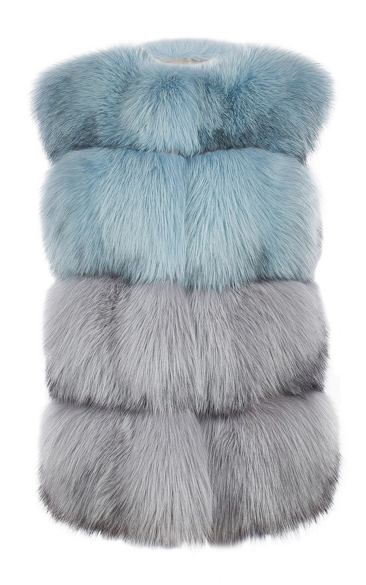 Arctic Marble Fox Fur Vest by Milusha London, Fall-Winter 2015 (=)