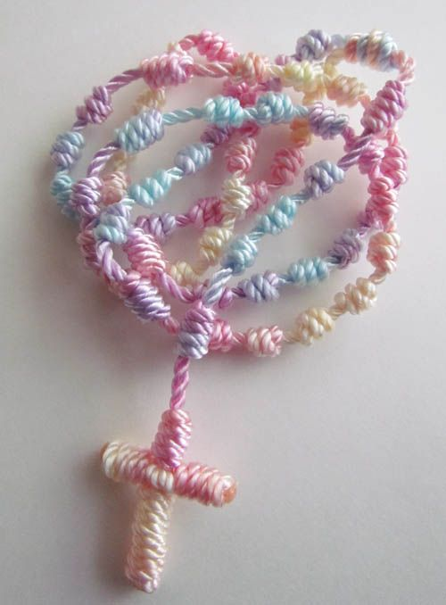 Tie-Dye knotted Rosary