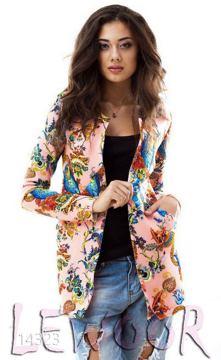 Эксклюзивный пиджак с принтом, неопрен - купить оптом и в розницу, интернет-магазин женской одежды lewoor.com