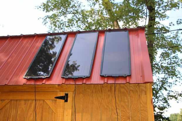 Adding a Harbor Freight 45 Watt Solar Panel to my Storage Building by Tom Hargrave