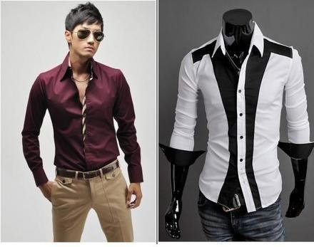 Camisas Slim Fit moda japonesa 1 | Camisas slim fit