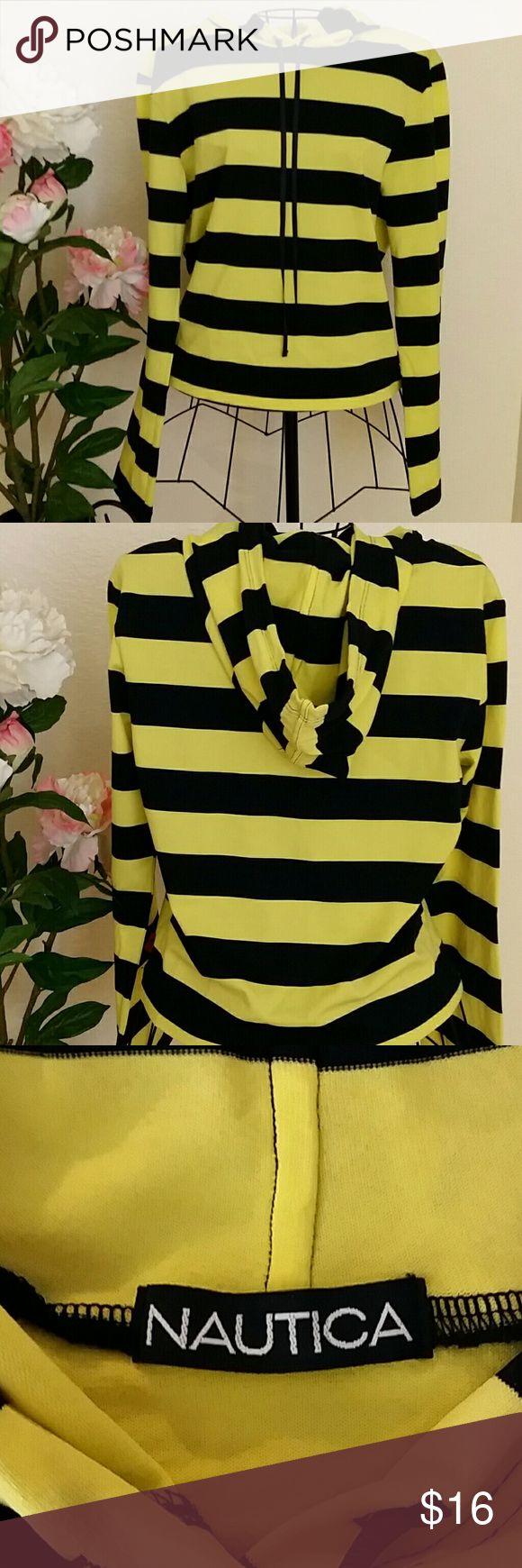 Cute striped hoodie Dark blue and yellow cute striped hoodie💕 Nautica Tops Sweatshirts & Hoodies