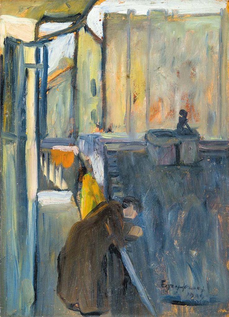 Egry József (1883-1951) Balkonon, 1909
