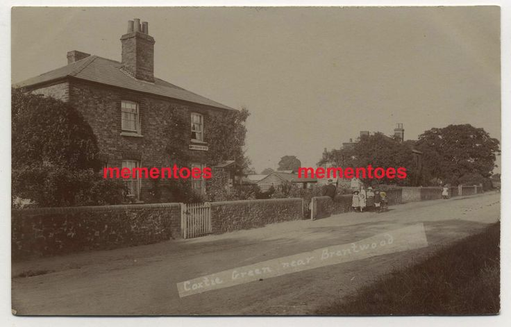 RP Postcard Coxtie Green Post Office Brentwood 1910 Franklin