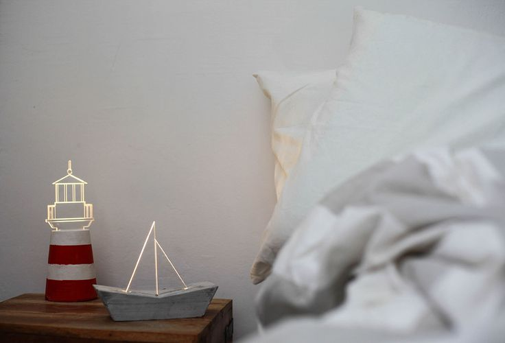 Lighthouse lamp concrete lamp nautical home by SturlesiDesign
