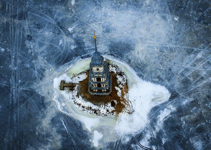 колокольня . Угличское водохранилище