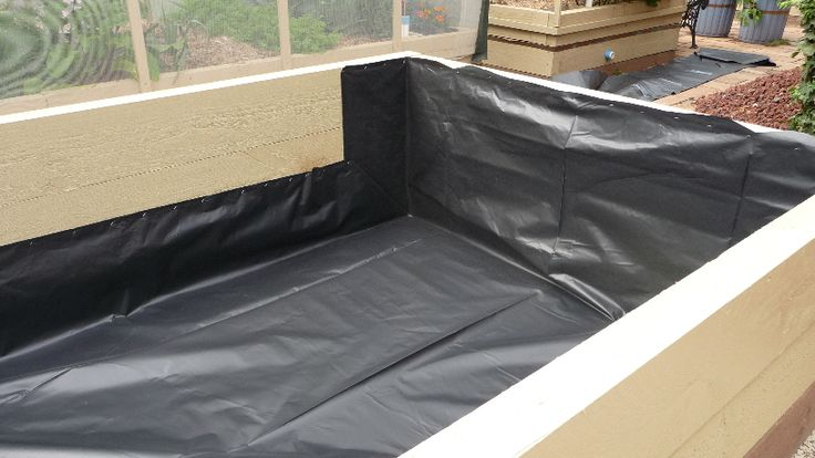 6. Water Tank Liner.....Two pieces of 200um polythene sheet are layered to make this seamless tank liner.  It will contain water up to a depth of 250mm.