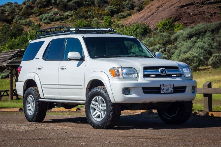 Toyota Sequoia Overland >> '05 1st Gen Sequoia lifted, BFG A/T KO's, LED's, Baja Rack roof rack, spidertrax wheel spacers ...