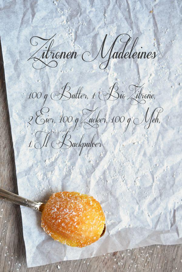 Rezept für selbstgebackene Zitronenmadeleines