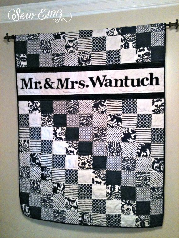 Made To Order Name Quilt Perfect Wedding Or Houswarming Gift Guest Book Pinterest And Weddings