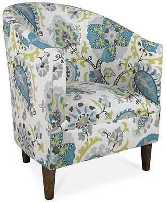 Accent chairs peacocks and peacock fabric on pinterest