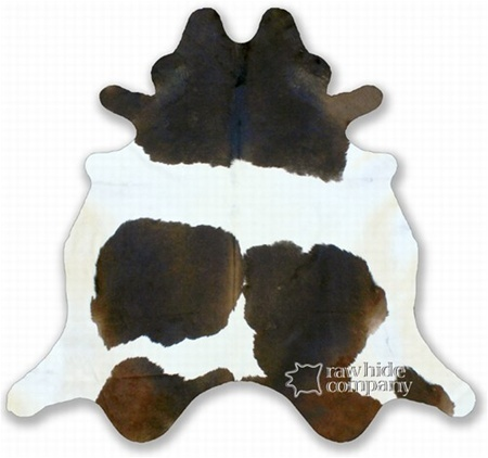 Holstein Chocolate Brown and White Cowhide Rug