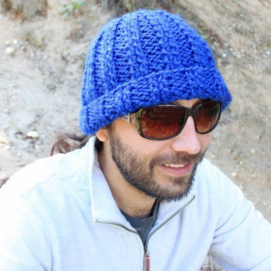 Mens Knitted Hat Patterns : Free knitting pattern for a mens beanie. Makes a great ...