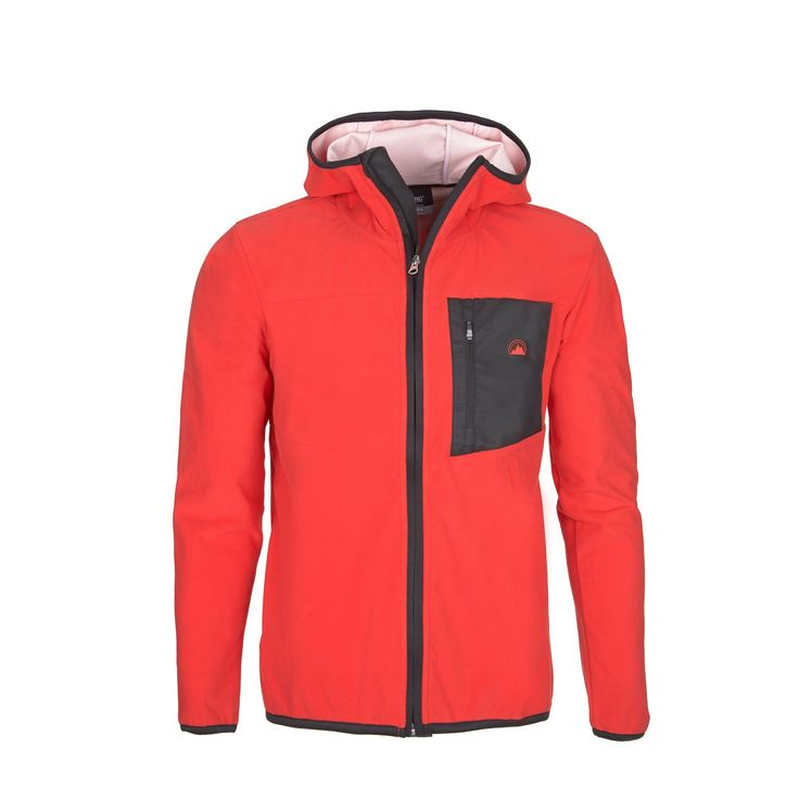 Water-repellent jacket with technical polar interior for an effective performance in any outdoor activity.