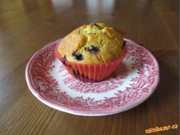 Borůvkové muffiny s kukuřičnou moukou