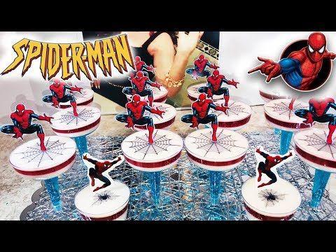 Gelatinas Individuales de Spidermaneconómicas , para ventas$ mesa de postres - YouTube