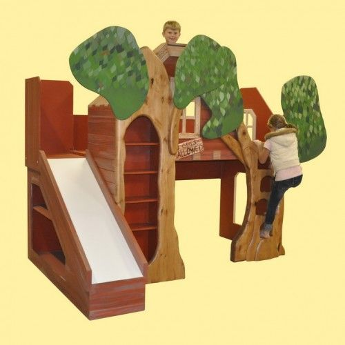 Trevor's Treehouse Bunk Bed and Indoor Playhouse $7,950.00 by Tanglewood design