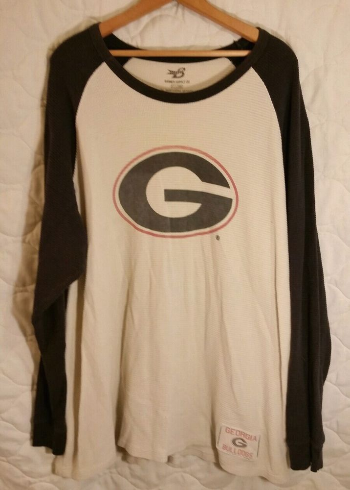 competitive price df7af fc27f Georgia Bulldogs L/S White w/ black sleeves 2XL Thermal ...