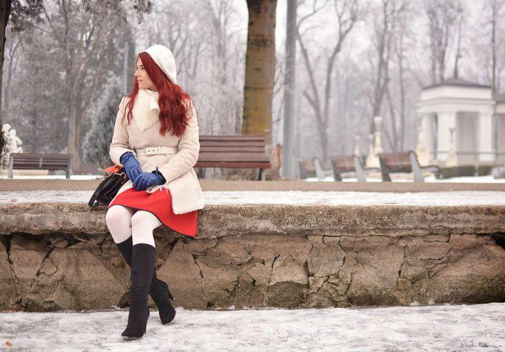 Fluffy white coats for a freezing white Winter!