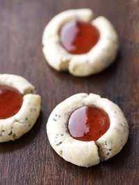 Red Currant-Poppyseed Thumbprints - Poppies are the symbol for Anzac day. I could shape these like flowers.