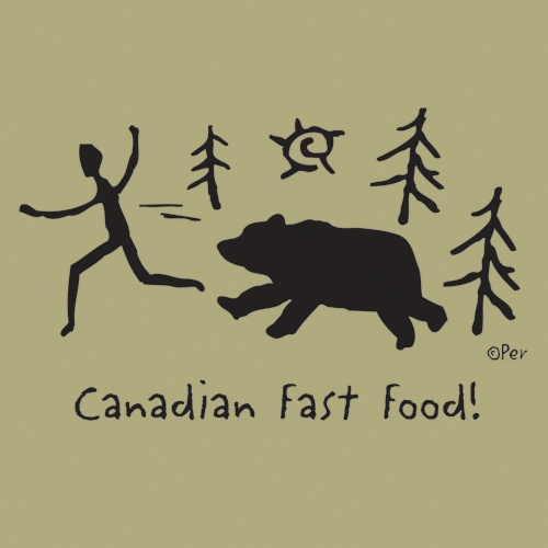Canadian T-Shirt (Adult) - Canadian Fast Food! - $19.95