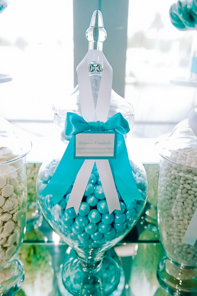 Aqua and White Lolly Buffet
