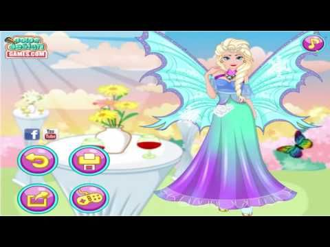 Frozen games Fairy Elsa Dress Design Funny Game for kids and girls