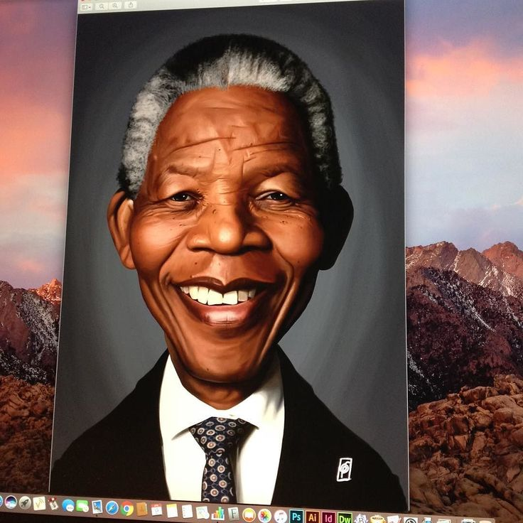 Nelson Mandela is complete! #nelsonmandela #wacom #instaartist #instaart #robart #illustration #caricature #digitalart #digitalpainting #digitalartist instagram | art | ideas | follow