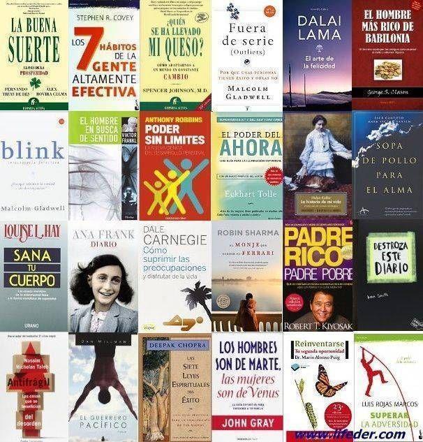 Los 40 mejores libros de autoayuda, entre ellos algunos de los más recomendados y más vendidos internacionalmente.