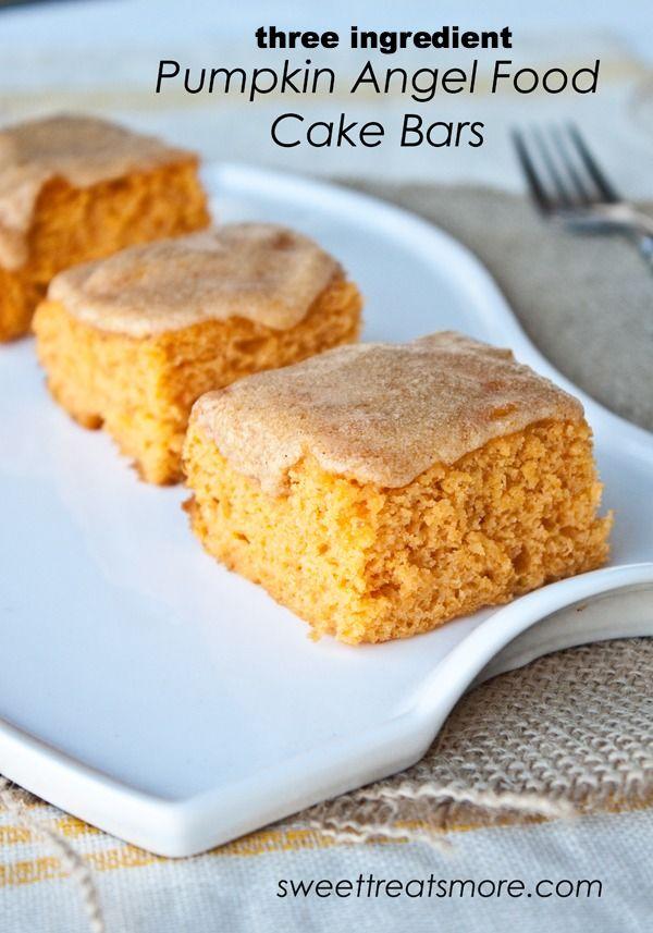 Ingredient Pumpkin Angel Food Cake Bars