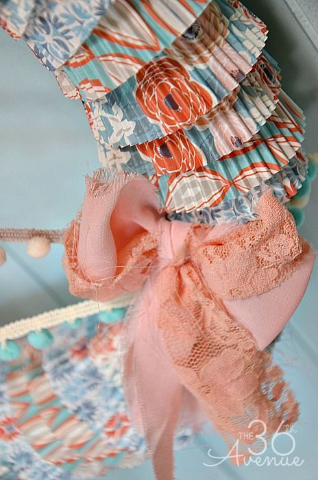 How to make a wreath using cupcake liners. Easy tutorial @The 36th Avenue .com #wreath #diy