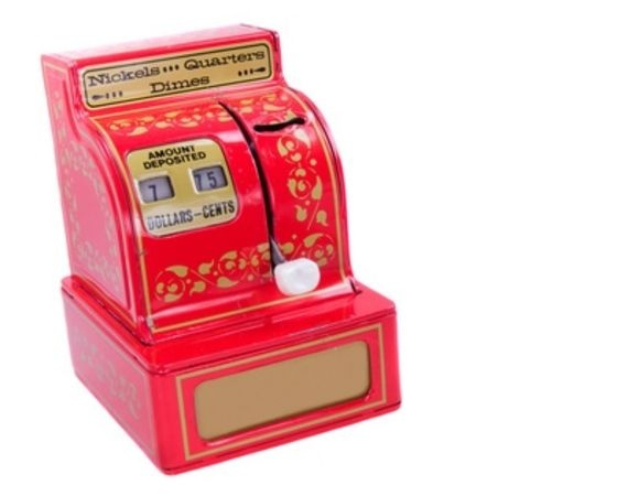 Role play - toy cash register game - helps children learn to count money