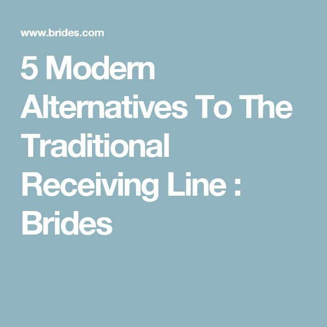 5 Modern Alternatives To The Traditional Receiving Line : Brides