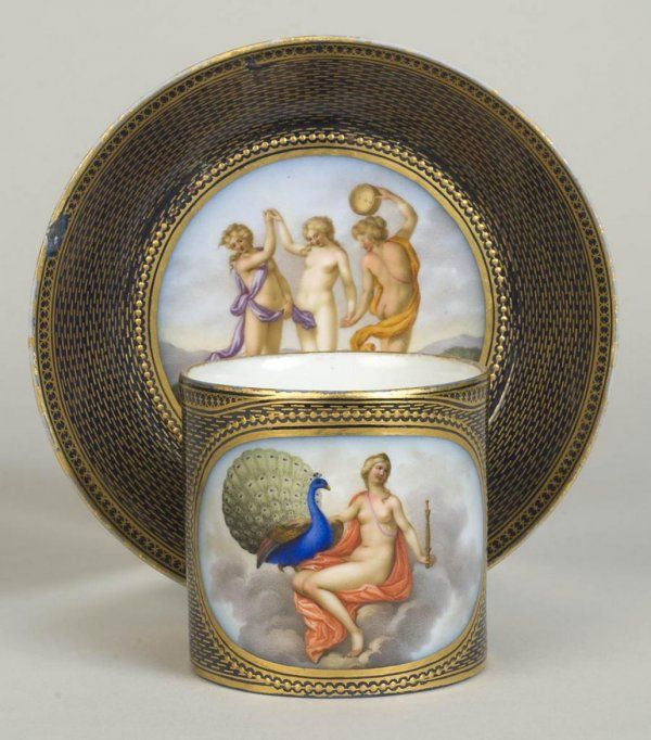 Rare Meissen Marcolini porcelain cup and saucer:
