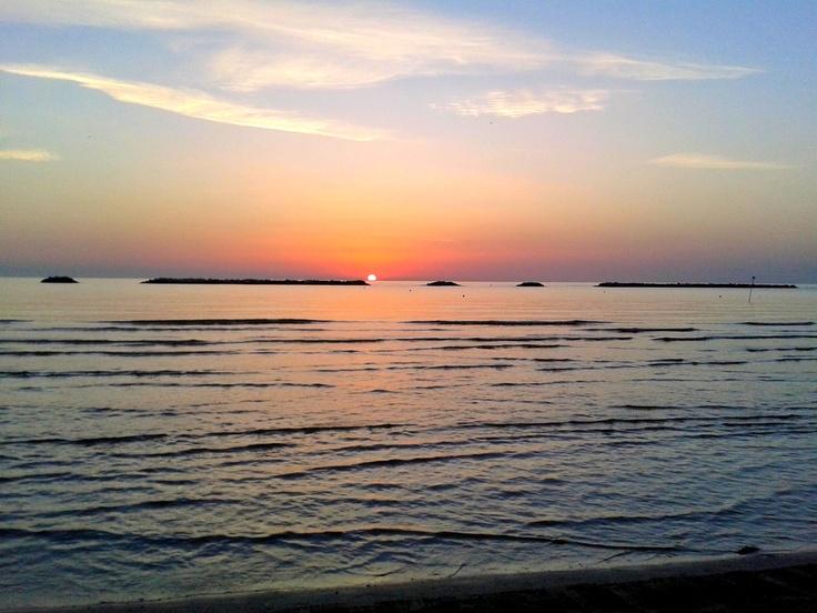 Sunrise at Cesenatico Beach, Emilia Romagna, Italy