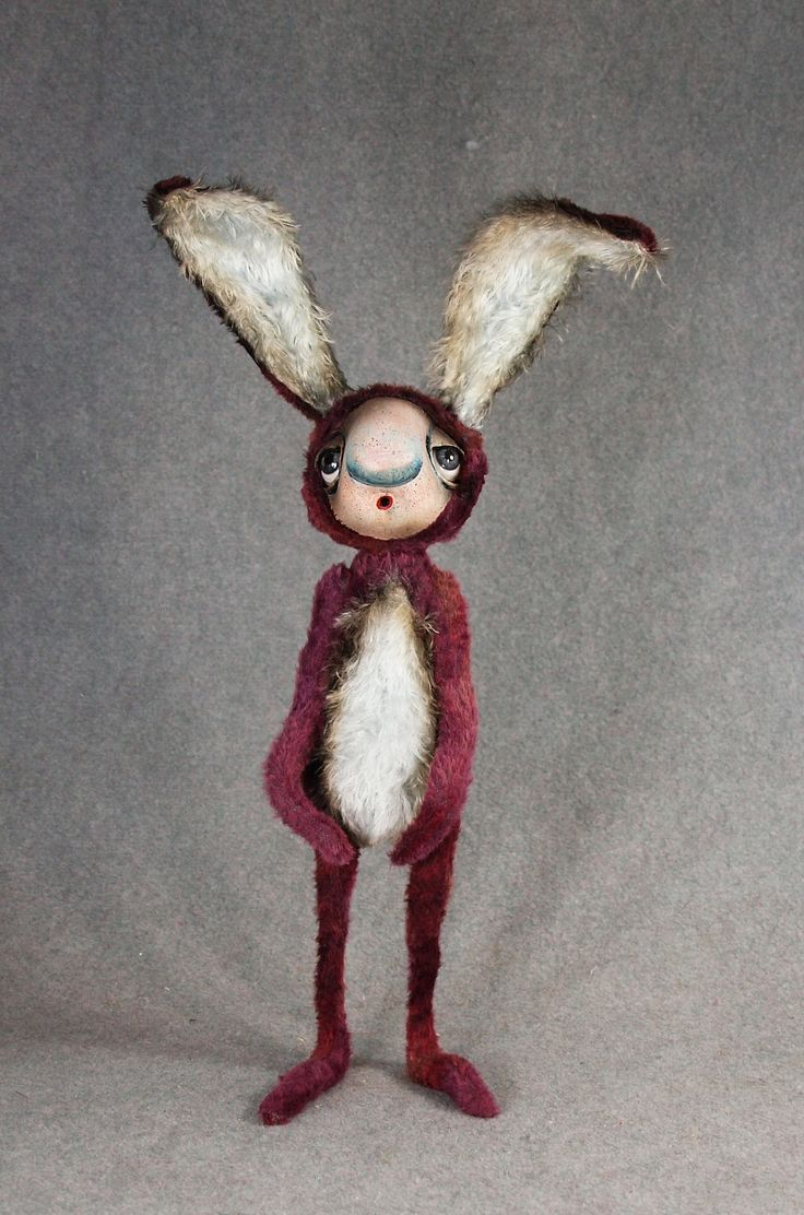 "Rabbit, 18"" Fine Art Doll...Chatham Village Bears and Fine Art Dolls"