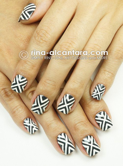 All Nail Trends: I Crossed Out All My Nails For Kicks! ;)