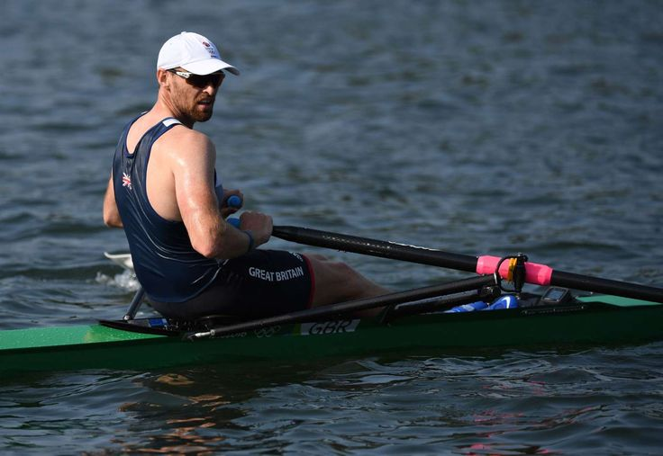 Alan Campbell of Great Britain competes during the men's rowing single scull quarterfinals in the Rio 2016 Summer Olympic Games at Lagoa Stadium.  - August 9, 2016