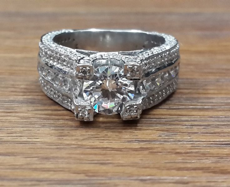 Sterling Silver .925 AAAAA grade cubic zirconia  2ct solitaire engagement ring by IsaBellaJewellery on Etsy