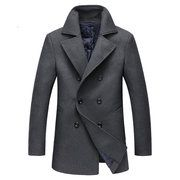 Hot-sale designerWinter Casual Business Thicken Woolen Single Breasted Trench Coats Jackets for Men Online - NewChic Mobile