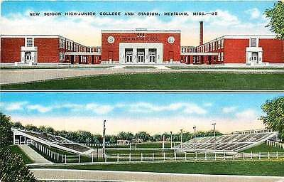 Meridian Mississippi 1938 Senior High Junior College Football Stadium Postcard