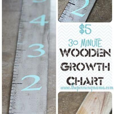 Wooden Growth Chart DIY {Children's Spaces}