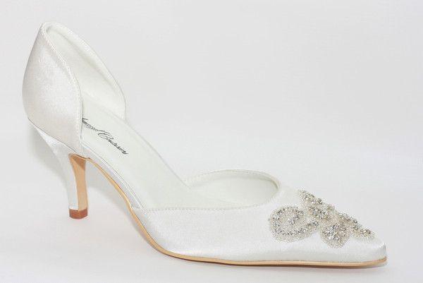 """Annabelle"" Embellished Pointed Toe Bridal Pump"