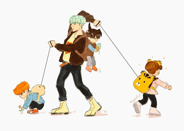 Hahaha so cute. Jimin,jungkook e V , sempre sendo crianças, nos, corpos de homens nada feio ( aquela carinha )